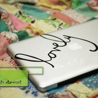lovely Decal for Macbook Pro, Air or Ipad Stickers Macbook Decals Apple Decal for Macbook Pro / Macbook Air