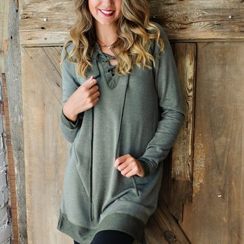 * Why Get Up Comfy Tunic: Olive
