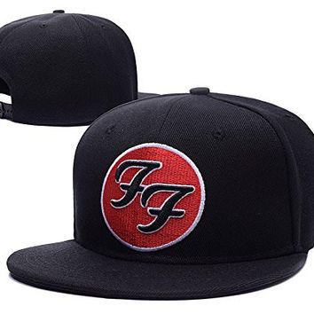 JRICK Foo Fighters Band Logo Adjustable Snapback Embroidery Hats Caps