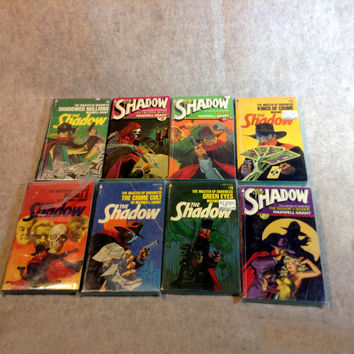 Collection of 24 Paperback Editions of The Shadow Books by Maxwell Grant - From a private collection, many in plastic sleeves.
