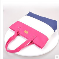 Korean Patchwork Canvas One Shoulder Strong Character Fashion Bags [6583181831]
