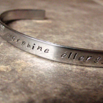Personalized Cuff Bracelet- Stainless Steel- Medical Alert Bracelet- Information- Dates- Quotes- Couples Bracelet- Unisex- Monogrammed