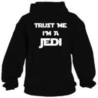 Trust Me I'm a JEDI Hoodie :: JEDI Star Wars Hooded Sweatshirt #1104 (Black) (Mens Medium)