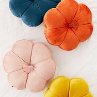 Leela Velvet Flower Throw Pillow | Urban Outfitters