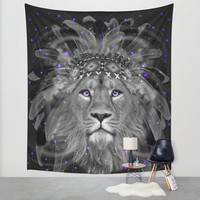 Don't Define Your World (Chief of Dreams: Lion) Tribe Series Wall Tapestry by Soaring Anchor Designs