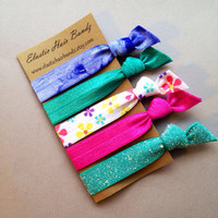 The Brittany Hair Tie Collection  5 Elastic by ElasticHairBandz