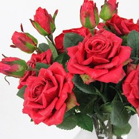 """Real Touch Rose Stem in Red 19"""" Tall (Set of 5)"""