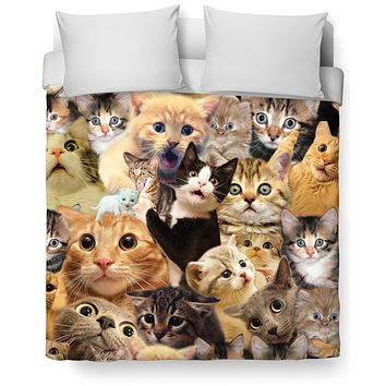 ROB Surprised Cats Duvet Cover