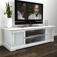 "Hampton 48"" White TV Stand Media Console"