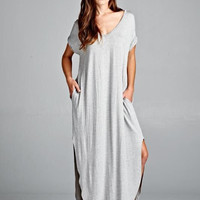 ZZZ - OVERSIZED T-SHIRT MAXI DRESS
