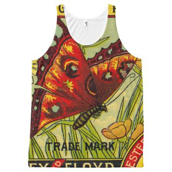 golden pumpkin All-Over-Print tank top