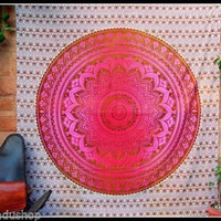 Tapestry Wall Hanging Yoga Boho Hippie Bohemian Indian Large Mandala Ombre