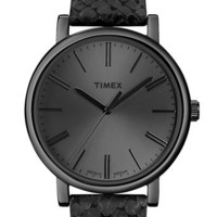 Timex® Round Leather Strap Watch | Nordstrom ($30.00)