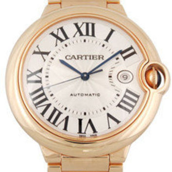 Lussotime - Cartier Ballon Bleu Large 18K Pink Gold Men's Watch - W69006Z2