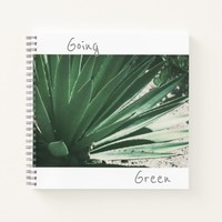 Going Green Aloe Succulent Plant Notebook