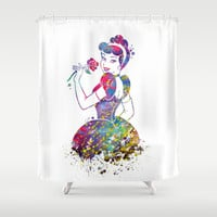 Princess Cinderella  Shower Curtain by Bitter Moon