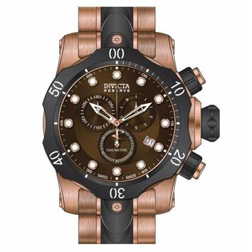Invicta 80569 Men's Venom Chronograph Dive Brown Dial Two Tone Bracelet Watch