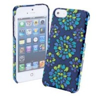 Vera Bradley Snap on Case for Iphone 5 in Indigo Pop