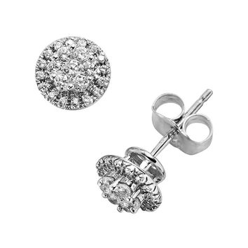 The HALO Collection 10k White Gold 1/4-ct. T.W. Diamond Frame Stud Earrings