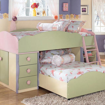 blossom twin low loft bed from totally kids fun furniture toys. Black Bedroom Furniture Sets. Home Design Ideas