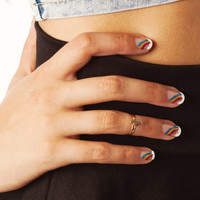Bohemian Hippie Cross Mid Finger/ Knuckle Ring