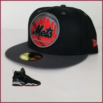 New Era NY Mets 59Fifty Fitted hat for Jordan 8 Cement