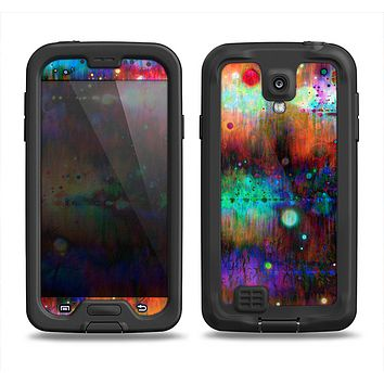 The Neon Paint Mixtured Surface Samsung Galaxy S4 LifeProof Nuud Case Skin Set