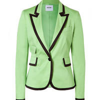 Moschino C&C - May Green/Black Trimmed Cotton Blazer