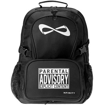 Parental Advisory Content Cheer Nfinity Backpack