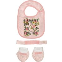 3Pc Giftset: Bib, Headband, Booties by Juicy Couture