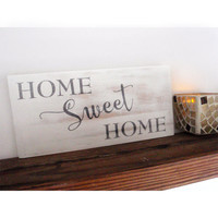 Home sweet home sign - Farmhouse sign - Housewarming gift - Mother's Day gift - Rustic home decor - Wall decor - Living room decor