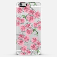 scattered roses iPhone 6 Plus case by Sylvia Cook | Casetify