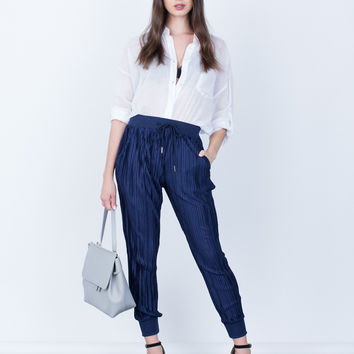 Pleated Jogger Pants