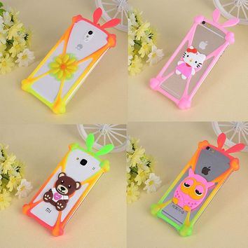 For Alcatel One Touch Pixi First 4024D Silicone Phone Case Rabbit Stitch Bear Minnie Mouse Sully Minions Rubber Covers 3d Bumper