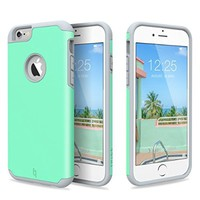 iPhone 6 Case, [Slim Fit] ULAK Sugar Candy [Anti-Slip] Drop Protection with Shock Absorbent [Hybrid PC & Silicone Case] Cover for Apple iPhone 6s / 6 - [Turquoise/Grey]