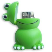 Cute Frog Cigar Cigarette Windproof Torch Lighter Gift
