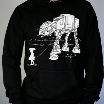 My Star Wars ATAT Pet  Mens hoodie / Unisex Pullover by ironspider