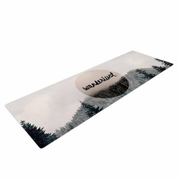 "Robin Dickinson ""Wanderlust"" Gray Black Yoga Mat"