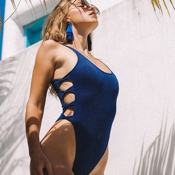 Cupshe Lover's Prattle Solid One-piece Swimsuit