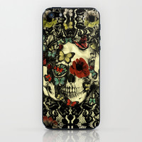Vintage Gothic Lace Skull iPhone & iPod Skin by Kristy Patterson Design