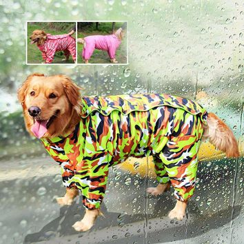 Camouflage Small Medium Large Large Dog Raincoat Waterproof Pet Jumpsuit Clothes Apparel Clothing for Teddy Poodle Chihuahua