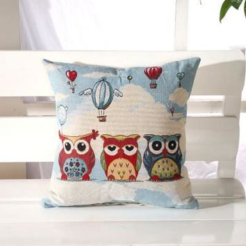 Cartoon Handmade Owl Home Decor Pillow Decorative Throw Pillows Cute Drawing 10