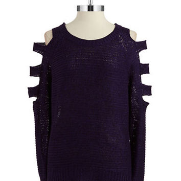 Rd Style Cold Shoulder Knit Top