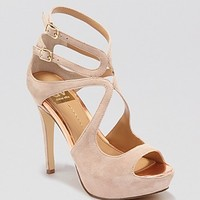 DV Dolce Vita Open Toe Platform Evening Sandals - Brielle High Heel