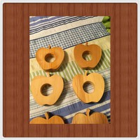 Apple Napkin Rings Unfinished Wooden Ready for DIY Upcycle