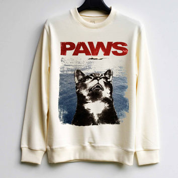 Cat Shirt Cat Paws Shirt Sweatshirt Sweater Shirt – Size XS S M L XL