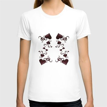Hearts and ribbons T-shirt by VanessaGF