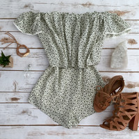 Off Shoulder Granny Floral Romp