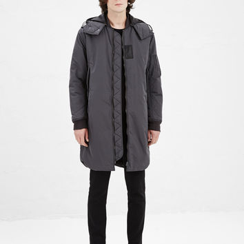 Totokaelo - Acne Studios Dark Grey Vince Coat - $700.00