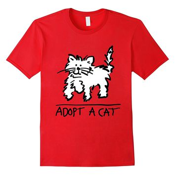 Adopt A Cat T-shirt | Cat Rescue | Animal Lover Shirt